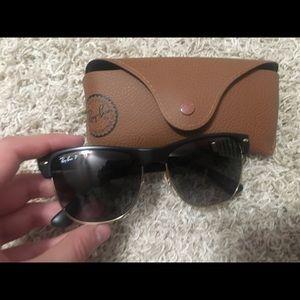 Ray-Ban Oversized Clubmaster Polarized Sunglasses